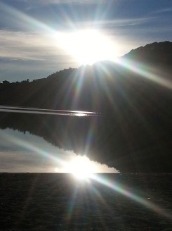 lake rotopaumanu sunset