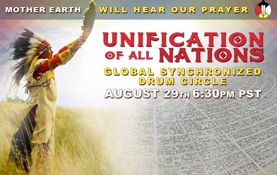 Global Drum Prayer; United We Rise….Happening today!