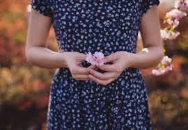 woman w flower