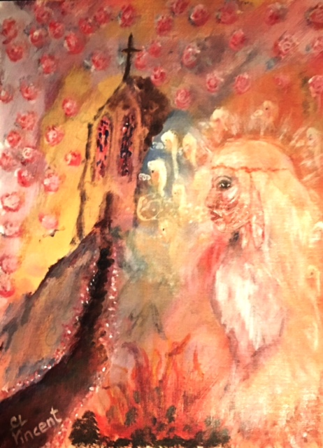 """""""A hidden choir singing during a religious service"""" BY WISE OWL CHRISTINE VINCENT"""