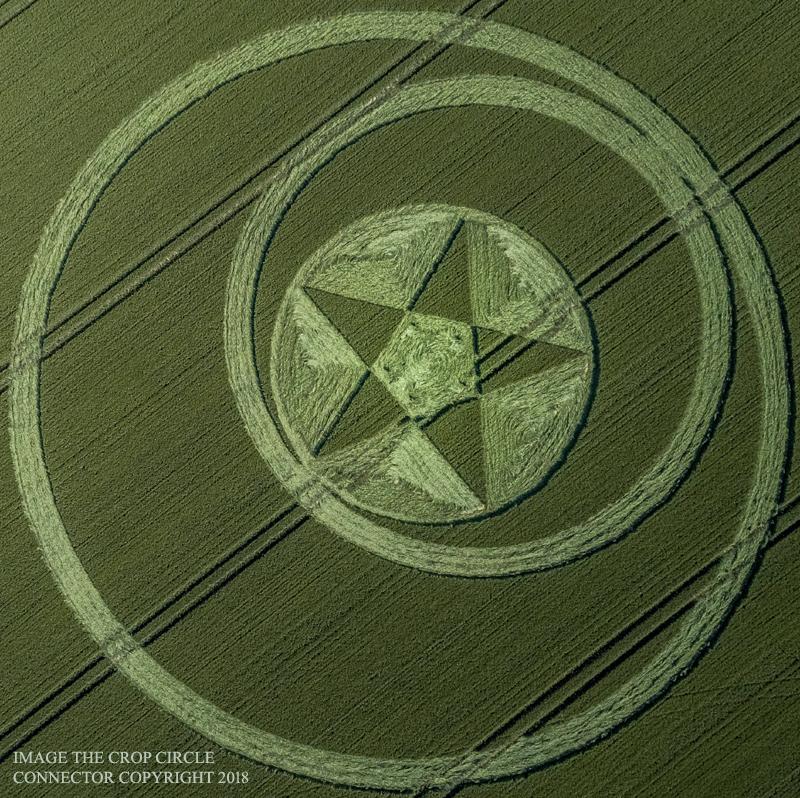 NEWEST CROP CIRCLE OFFERS LIGHT BODY/MERKABAH 5DACTIVATION