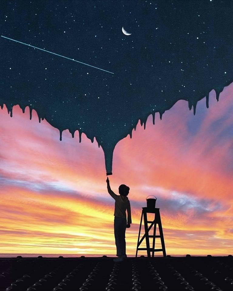 New Moon Art paint