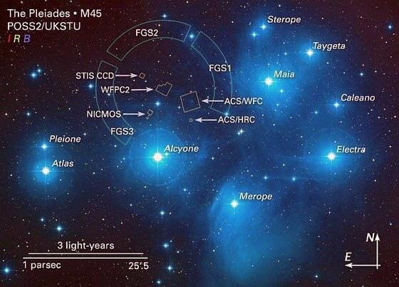 Pleidian Star Chart