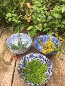 Three completed flower essences