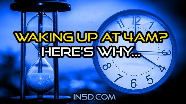 Waking Up At 4AM? Here's Why...