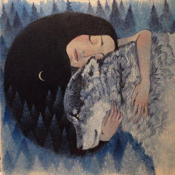 New Moon art by Lucy Campbell